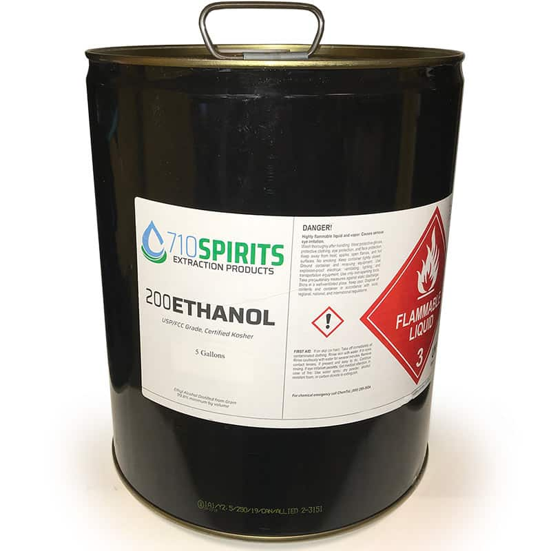 Ethyl Alcohol 5 Gal 200 Proof Absolute Undenatured A