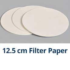 12.5CM FILTER PAPER 100//PK