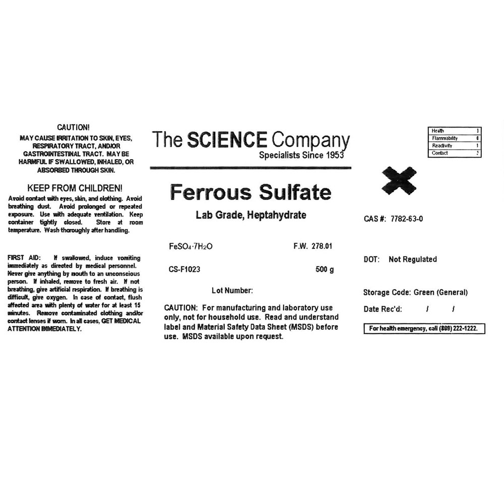 lab grade ferrous sulfate or iron sulfate 100g for sale buy from