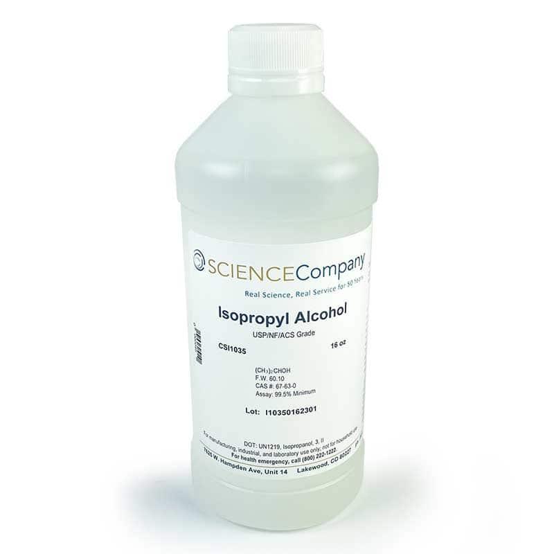 Isopropyl Alcohol, 16oz, Reagent ACS USP/NF, 99 8%