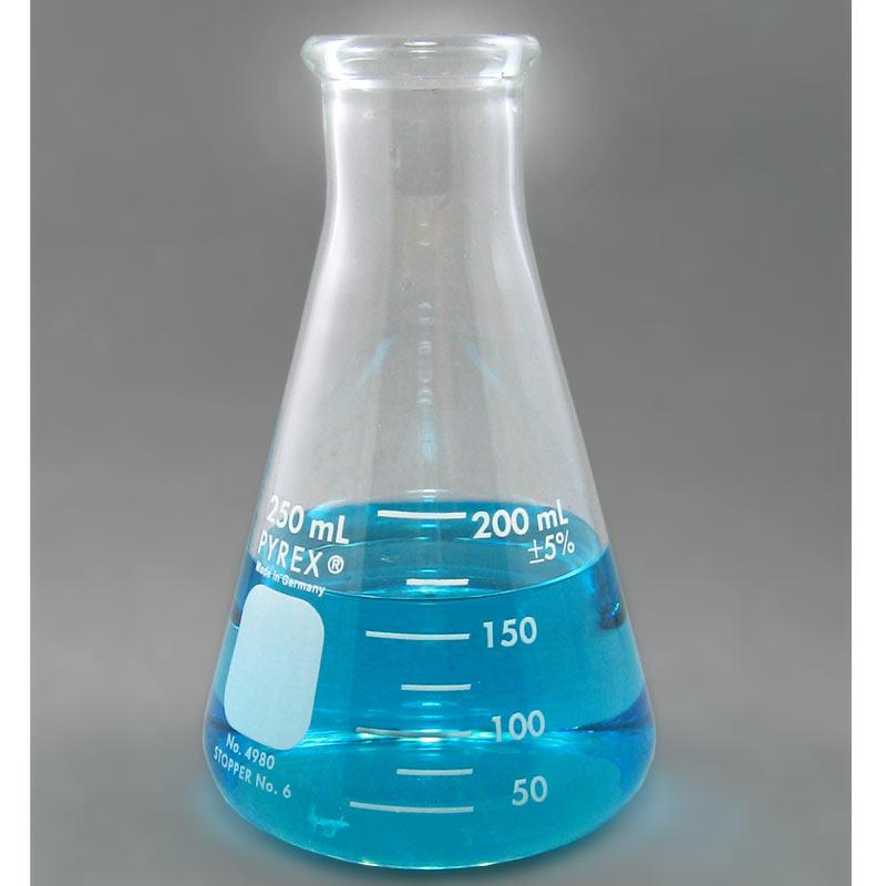 PYREX Glass Erlenmeyer Flask, 250mL
