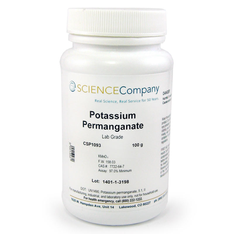 Lab Grade Potassium Permanganate Kmno4 100g For Sale Buy From The