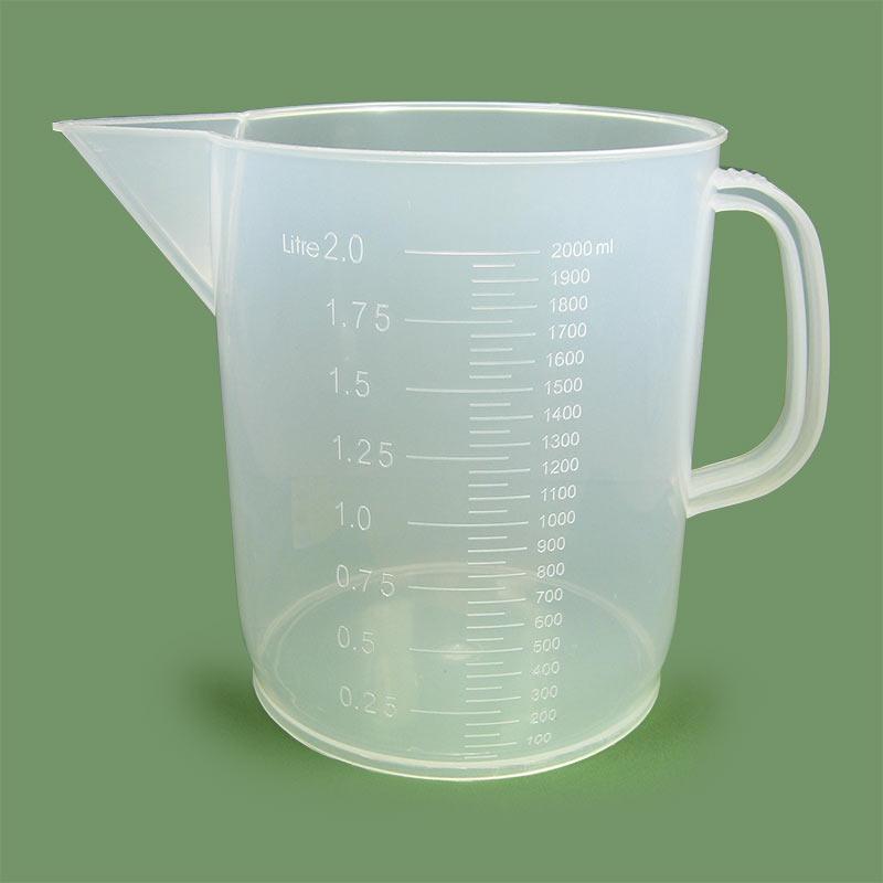 Plastic Graduated Beaker with Handle, 2000mL
