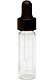 Clear glass dropper vial, 1 dram