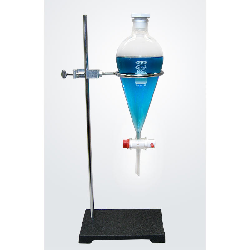 Borosilicate Separatory Funnel With Ring Stand 500ml