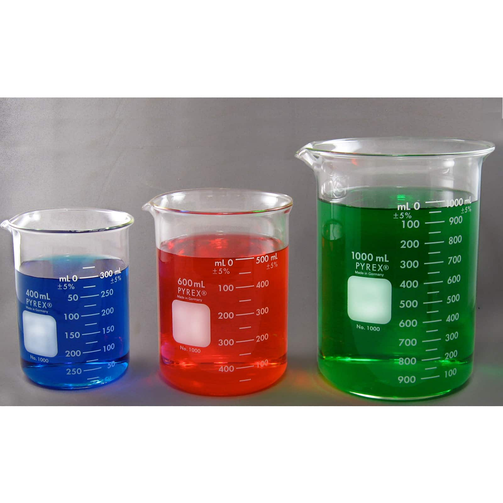 Pyrex Beaker Set - 400ml, 600ml, 1000ml