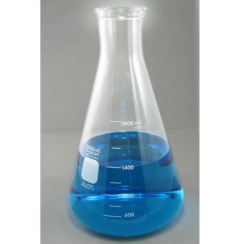 PYREX Glass Erlenmeyer Flask, 2000mL