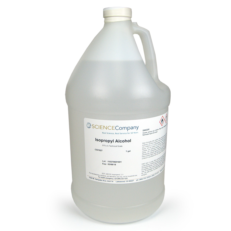 Isopropyl Alcohol, 1 gal, Technical, 91%