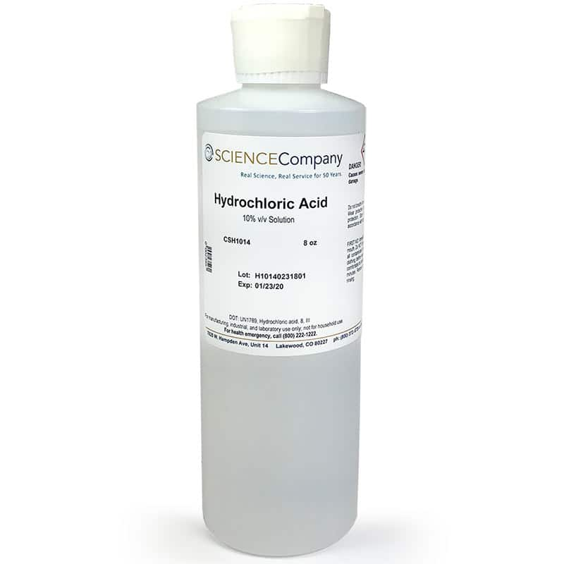 Hydrochloric Acid 10 Solution 250ml For Sale Buy From The