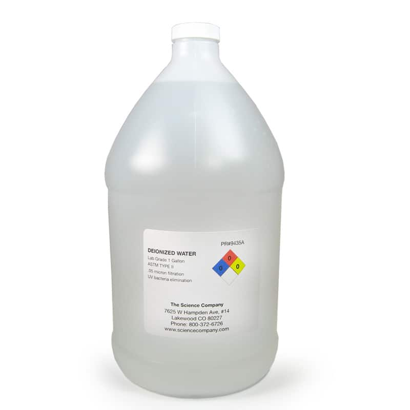 Lab Grade Deionized Water 0 05 Micron 1 Gal For Sale