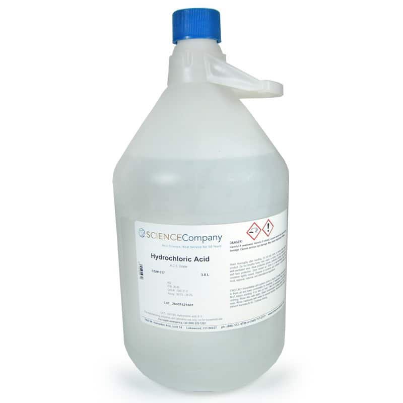 Concentrated Hydrochloric Acid, 3.8 Liter for sale. Buy ...