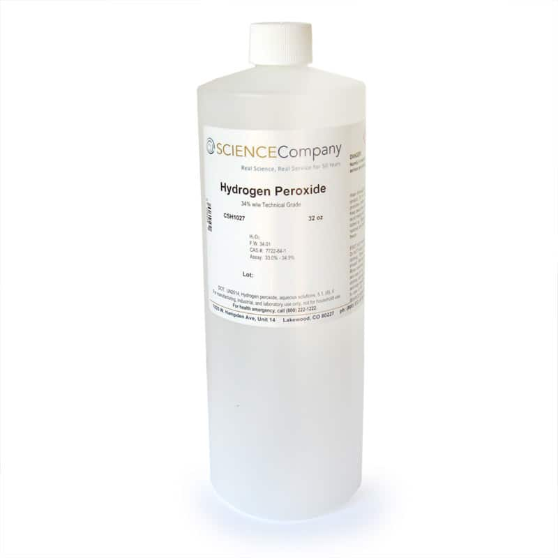 technical grade hydrogen peroxide 34 32oz for sale buy from the