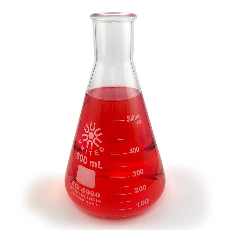 Borosilicate Glass Erlenmeyer Flask, 500mL