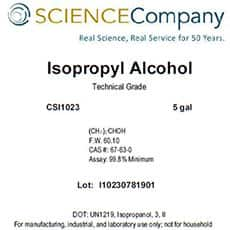 Isopropyl Alcohol, 5 gal, Technical, 99.8%