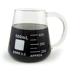 Borosilicate Erlenmeyer Flask Mug, 400ml