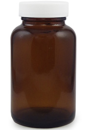 Amber Glass Wide Mouth Bottle, 4oz.