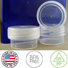 CoolJarz™ Sealz™ Screw-Capped Clear Poly Jar, 3 dram