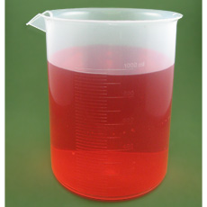 Polypropylene Plastic Graduated Beaker, 1000ml