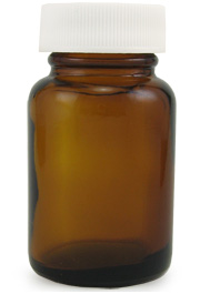 Amber Glass Wide Mouth Bottle, 1oz.
