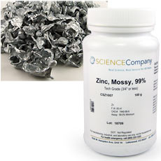 Lab Grade Mossy Zinc Metal 100gm For Sale Buy From The