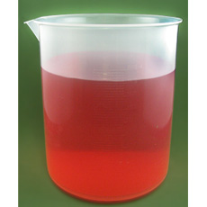 Polypropylene Plastic Graduated Beaker, 2000ml